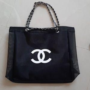 Chanel mesh tote bag
